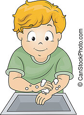 男孩, 洗滌手