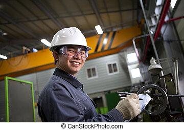 男性, 亞洲人, 工業, 技工