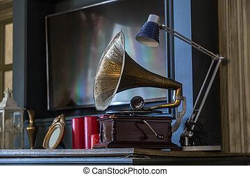 留聲機, 古董, 內部