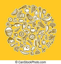略述, 健康的食物, 背景, 設計, 你