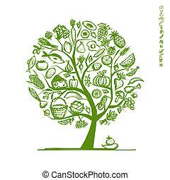 略述, 健康, 樹, 設計, 食物, 你