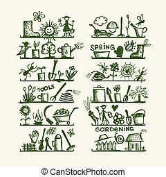 略述, 架子, 花園設計, 工具, 你