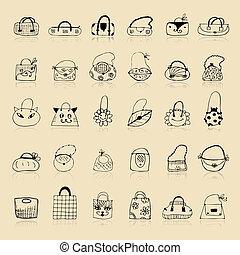 略述, 袋子, 彙整, 你, 設計, 圖畫