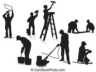 畫家, 工匠