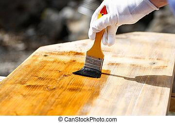 畫家, 木頭, 木制, 畫, 保護, 表面