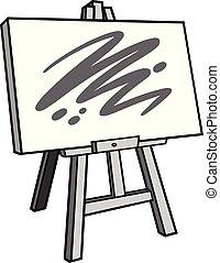畫架, 藝術, 插圖