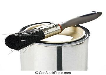 畫罐, 刷子, 罐頭
