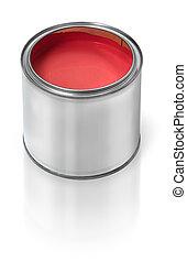 畫罐, 罐頭, 紅色