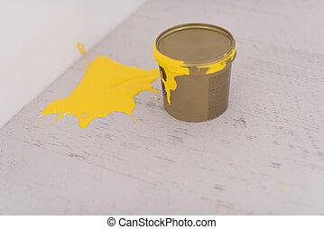 畫罐, 罐頭, 黃色