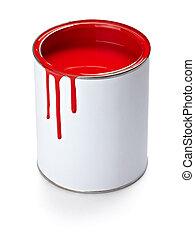 畫罐, 顏色, 罐頭, 刷子