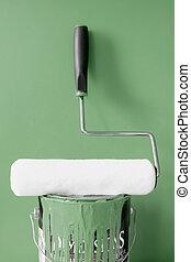 畫, 卡其布, 綠色, 滾柱