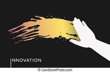 畫, 手, 革新
