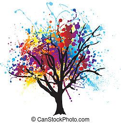 畫, 樹, splat
