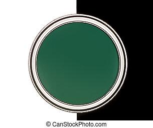 畫, 綠色, 罐頭