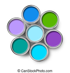 畫, 顏色, 涼爽, 調色板, 罐頭