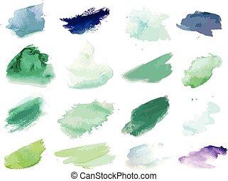 畫, splat, 水彩