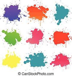 畫, splat, 鮮艷