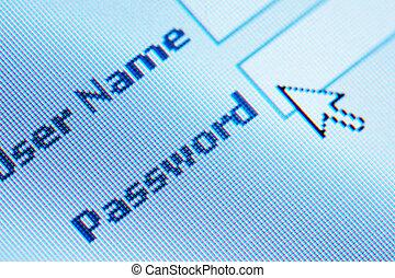 登錄, 密碼