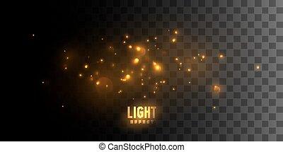發光, stars., 火
