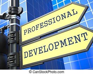 發展, 專業人員, concept., 徵候。, 事務