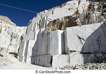 白色的大理石, 采石場