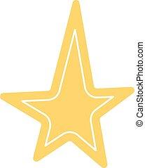 白色, 圖象, 黃金, 星, 晴朗, 聖誕節, 背景