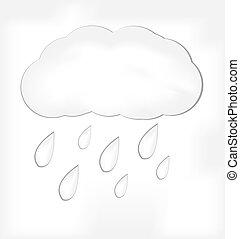 白色, 天氣, 圖象