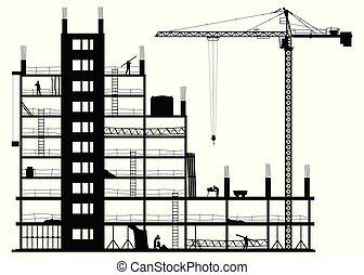 白色, 建築工地, 背景