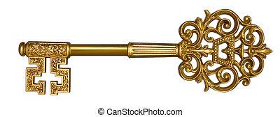 白色, 掌握, 金子鑰匙
