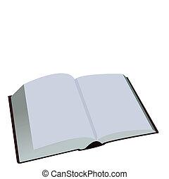 白色, 書, 打開, 背景, 被隔离