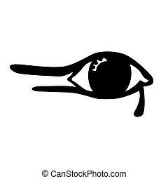 白色, 眼睛, 背景, 插圖, 埃及人