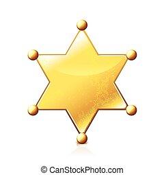 白色, 矢量, 星, 被隔离, 郡長