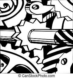 白色, 矢量, 背景, 插圖, 機制