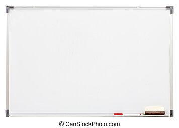 白色, 空白, 被隔离, 板