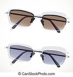 白色 背景, 被隔离, 眼鏡