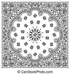 白色, 花色絲質大手帕