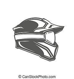 白色, 鋼盔, 面罩, 背景, 被隔离