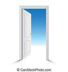 白色, 門, 打開