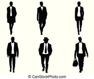 白色, 黑色半面畫像, 人, 背景