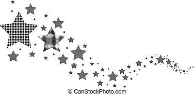 白色, 黑色, 星