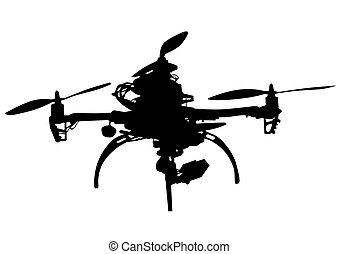 白色, quadrocopter
