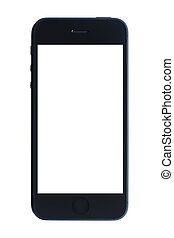 白色, smartphone, 被隔离, 背景