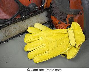 皮革, 工具, 工作手套