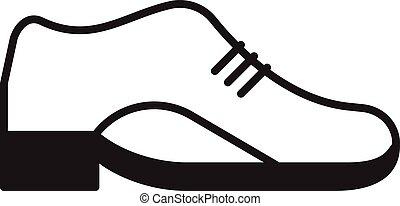 皮革, 矢量, 鞋子, 圖象
