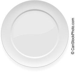 盤子, 白色, 晚餐, 空白