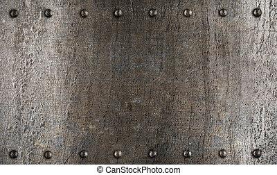 盤子, 裝甲, 金屬, 結構, 或者, 鉚釘