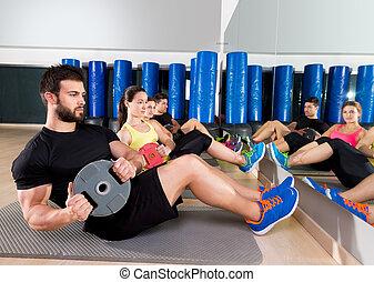 盤子, 訓練, 腹部, 核心, 體操, 組