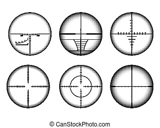 目標, 圖象, set., 步槍, 十字准線, 目標, ar, 視力, collimato, 軍事, 狙擊手