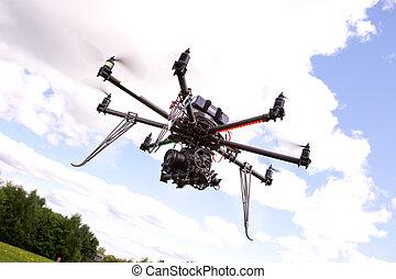 直升飛机, 攝影, uav