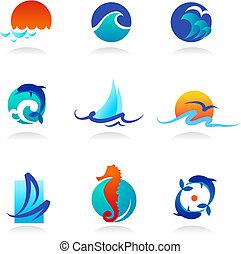 相關, 圖象, 海, 彙整